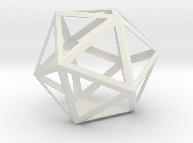 gmtrx 11.58 cm lawal skeletal icosahedron  in White Natural Versatile Plastic