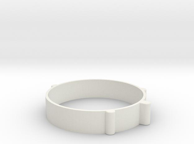 Rondelle22mm in White Natural Versatile Plastic