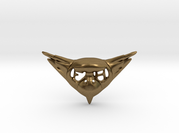 FLYHIGH: Womens Bird Pendant in Natural Bronze