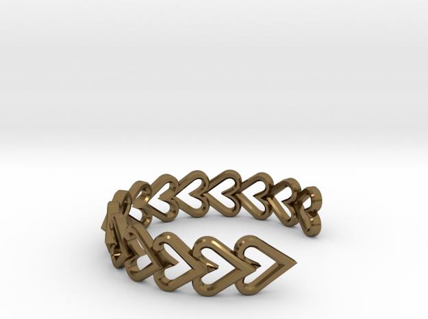 FLYHIGH: Open Heart Vertical Bracelet in Polished Bronze