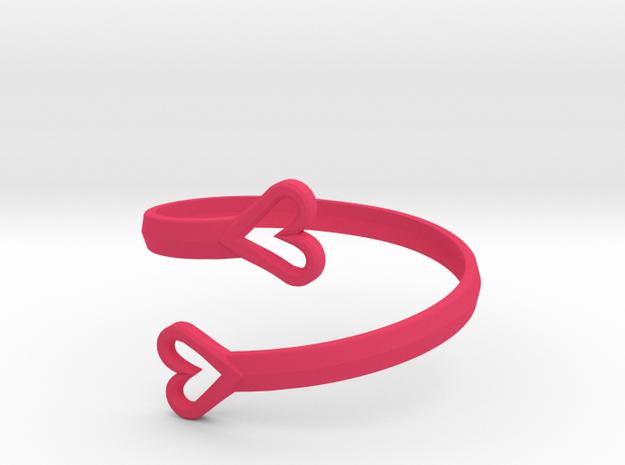 FLYHIGH: Open Hearts Bracelet in Pink Processed Versatile Plastic