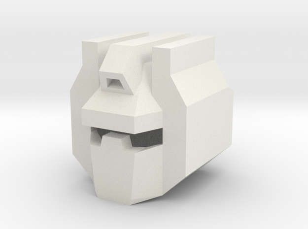 Robohelmet: Traditional Dino King in White Natural Versatile Plastic