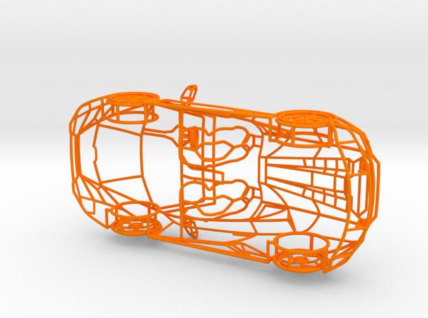 Lamborghini Huracan Evo Spyder scale 1/24 in Orange Processed Versatile Plastic