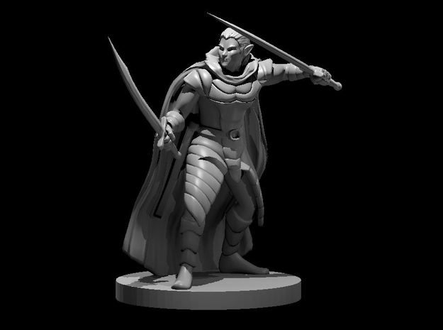 Elf Male Two Sword Ranger 3 in Smooth Fine Detail Plastic