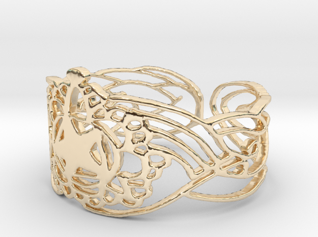 Bracelet Design  5,7 cm in 14K Yellow Gold