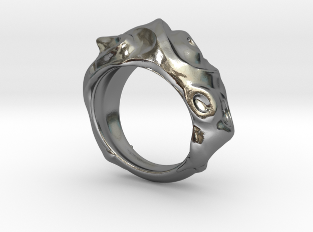 Conch Ring in Polished Silver