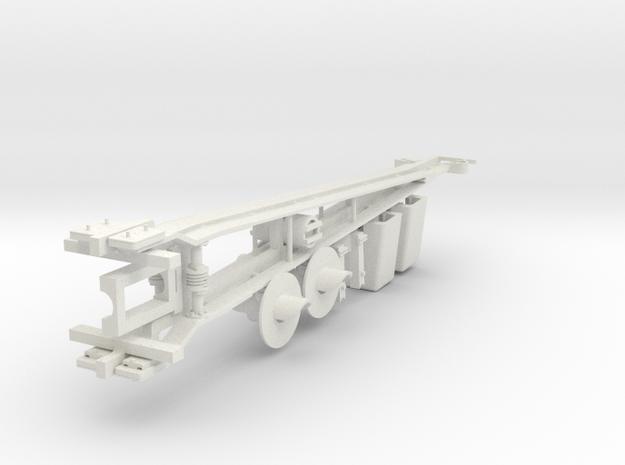 HO: Swedish lattice barrier - complet set in White Natural Versatile Plastic