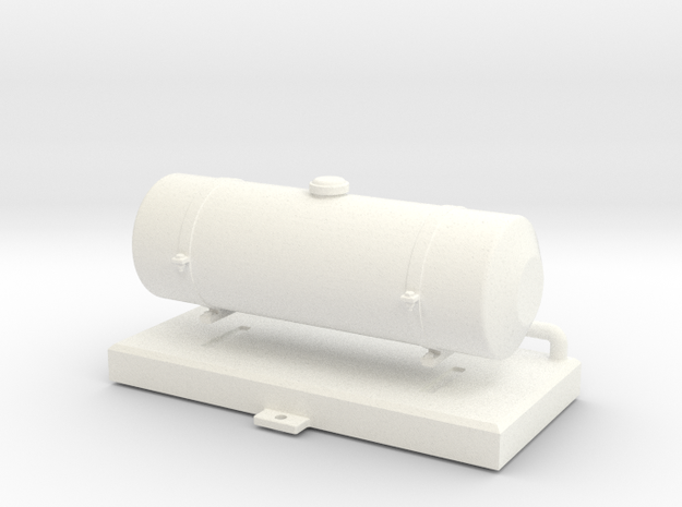 FA20008 Fuel Tank (Tamiya Wild One, FAV) in White Processed Versatile Plastic
