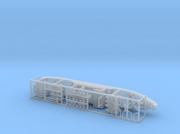 IJA Kibitsu Maru Landing Craft Depot Ship 1/600 in Smooth Fine Detail Plastic