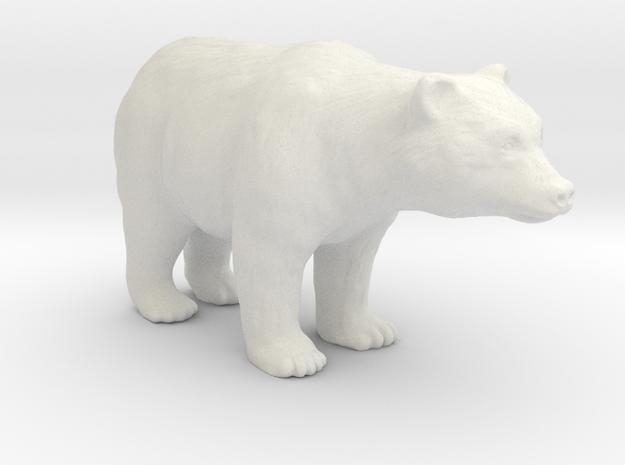 Plastic American Black Bear v1 1:48-O in White Natural Versatile Plastic