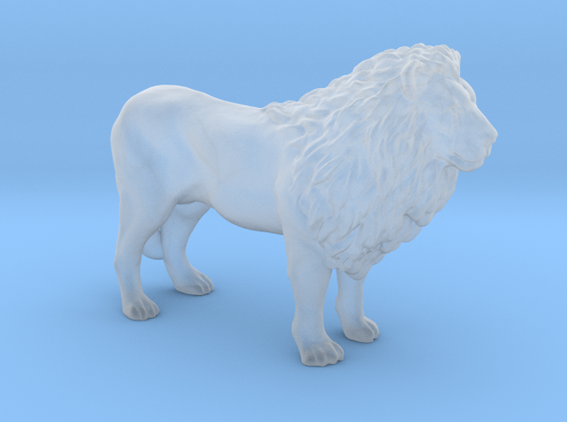 Plastic Male Lion v1 1:160-N in Smooth Fine Detail Plastic