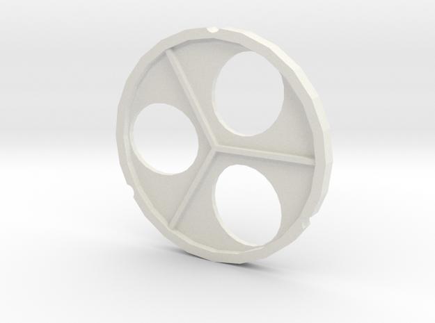 Picam Pinwheel in White Natural Versatile Plastic