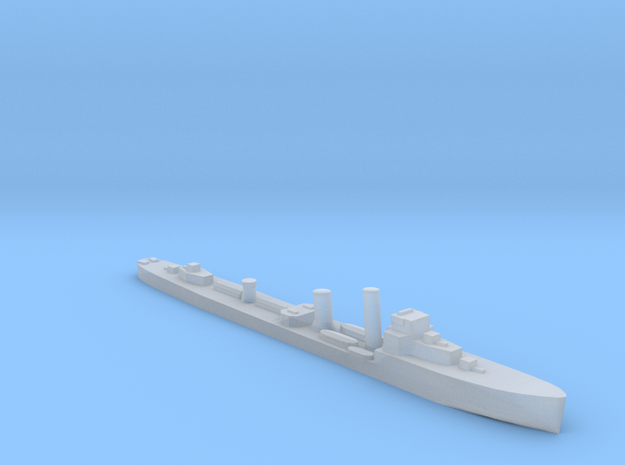 HMS Wessex (D43) W class destroyer 1:1250 WW2 in Smooth Fine Detail Plastic