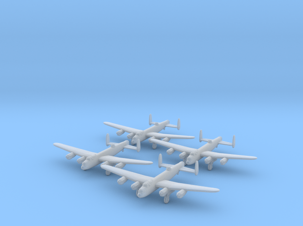 Lancaster-350-wheels-down-x4 in Smooth Fine Detail Plastic