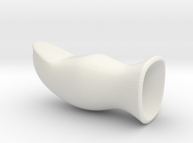 Fake Thumb, Straight in White Natural Versatile Plastic