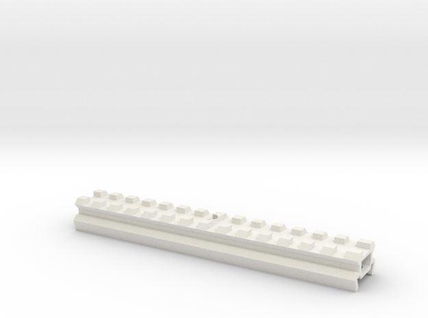 Airsoft L85 SA80 RAIL Adapter for G&G in White Natural Versatile Plastic