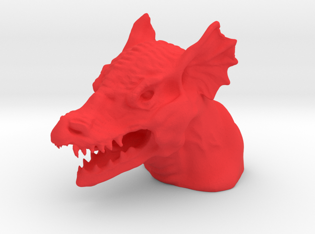 Dragon Bust in Red Strong & Flexible Polished