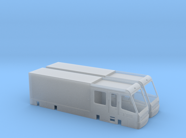 Dresden CarGoTram Endwagen in Smooth Fine Detail Plastic: 1:120 - TT