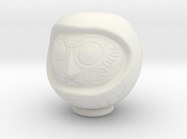 Daruma Doll 001 3d printed Daruma White Strong & Flexible