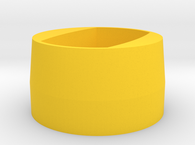 R40 Spring Spacer for Nerf Hyper Rush-40 in Yellow Processed Versatile Plastic