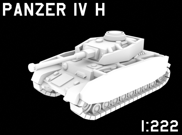1:222 Scale Panzer IV H in White Natural Versatile Plastic
