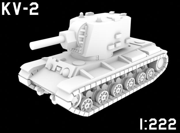 1:222 Scale KV-2 in White Natural Versatile Plastic