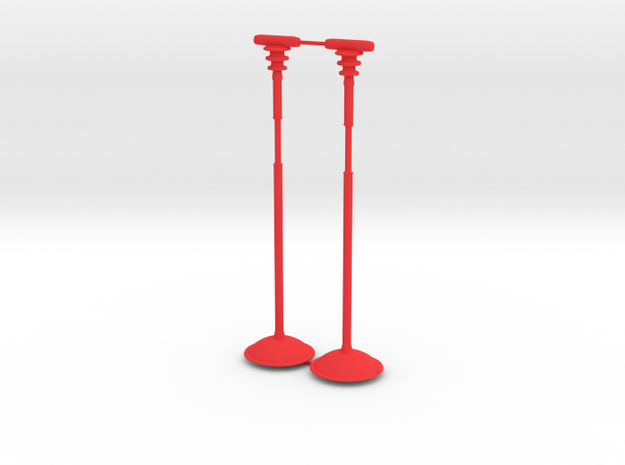 Battle Bird Stand for 7 inch figure (pair) in Red Processed Versatile Plastic