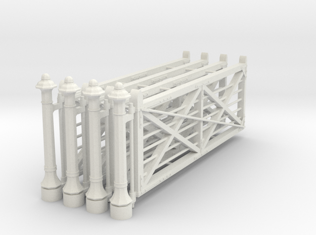 VR 14' #2 Gate 4 Pack 1-19 Scale in White Natural Versatile Plastic