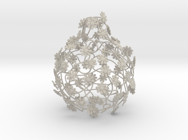 flowerlamp, ivy-grown lightshade 3d printed