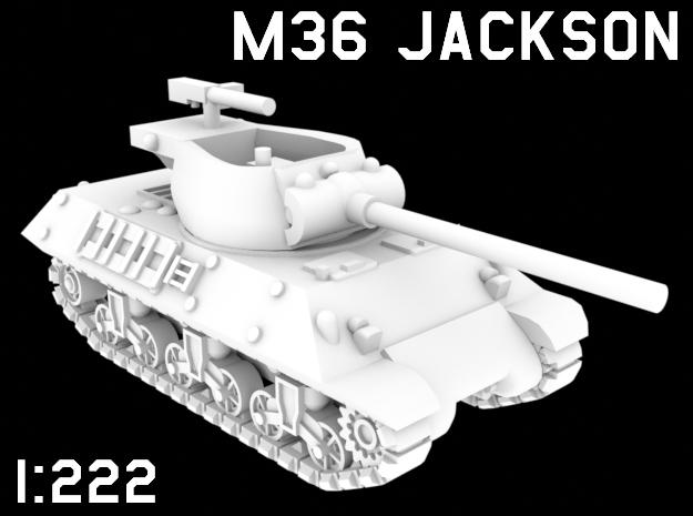 1:222 Scale M36 Jackson in White Natural Versatile Plastic