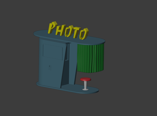 1/87 photo booth / photomaton n°1 in Smooth Fine Detail Plastic