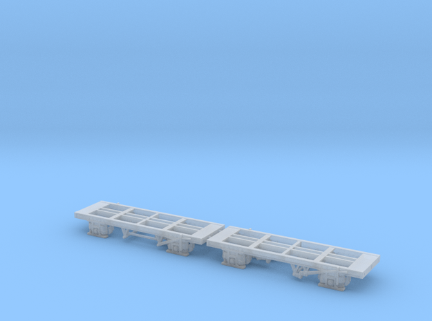 N Gauge CO2 Tank Wagon Chassis  in Smooth Fine Detail Plastic: Medium