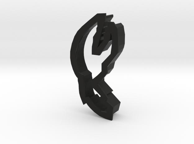 Claw Cookie Cutter in Black Natural Versatile Plastic