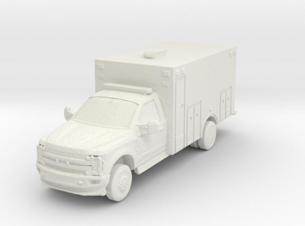 Ford F-550 Ambulance 1/64 in White Natural Versatile Plastic
