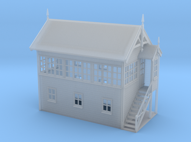VR Signal Box #3 [Right Stairs] 1:160 Scale in Smooth Fine Detail Plastic