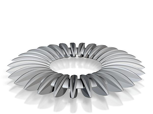 Calatrava Jewellery forms 140 60mm dia pendant 3d printed