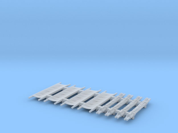 US WW2 Stretchers 1/87 scale in Smooth Fine Detail Plastic