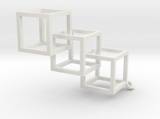 Boxes Earrings in White Natural Versatile Plastic