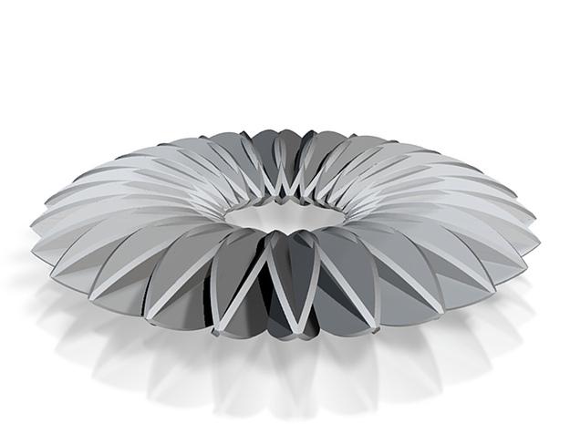 Calatrava Jewellery forms 142 80mm dia pendant 3d printed