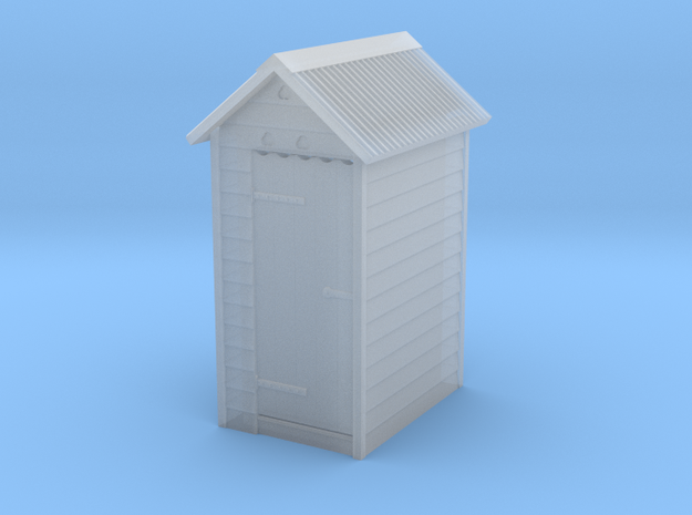 VR Outdoor Dunny WC Toilet Outhouse 1:160 Scale in Smooth Fine Detail Plastic