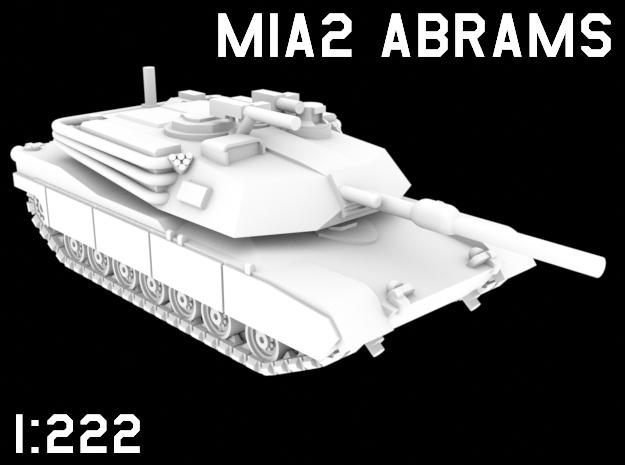 1:222 Scale M1A2 Abrams in White Natural Versatile Plastic