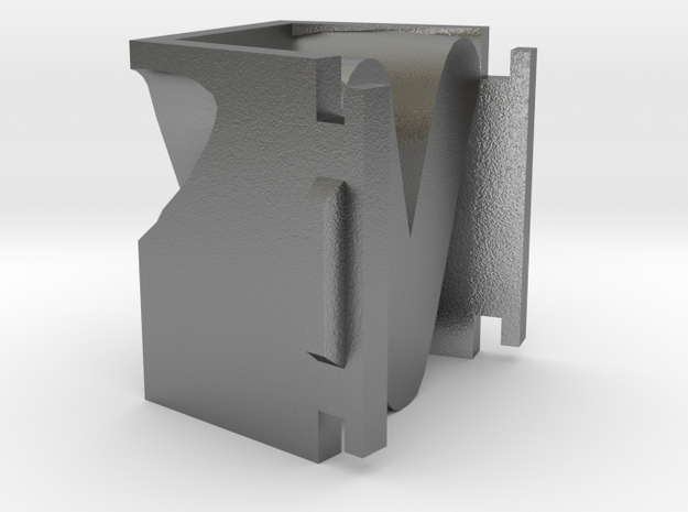 letter v for candle mold 3d printed