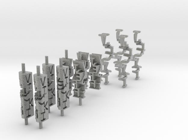 Ambigram earrings 3d printed