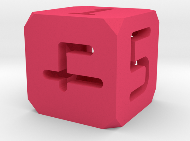 Hollow Dice Digits 3d printed