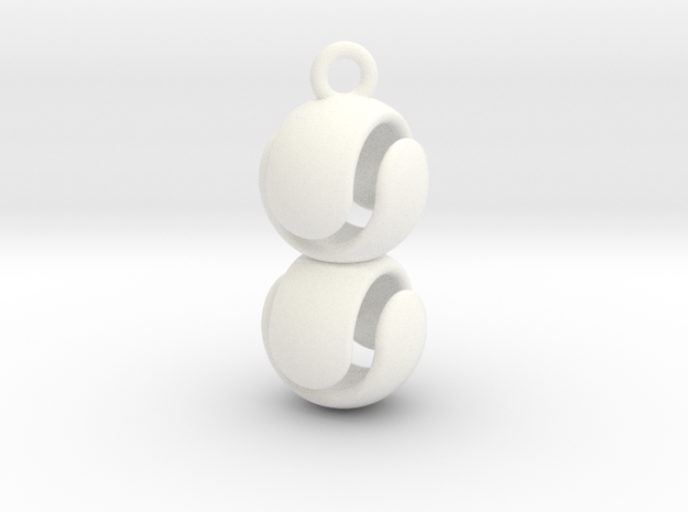 Double Marble Pendant 3d printed