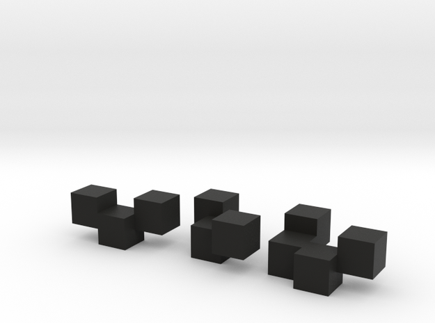 Three Block Puzzle 3d printed