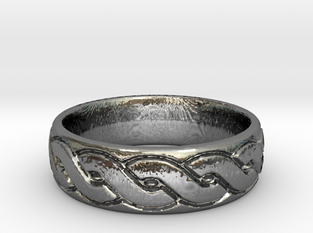Celtic knot seamless Ring 3 in Premium Silver