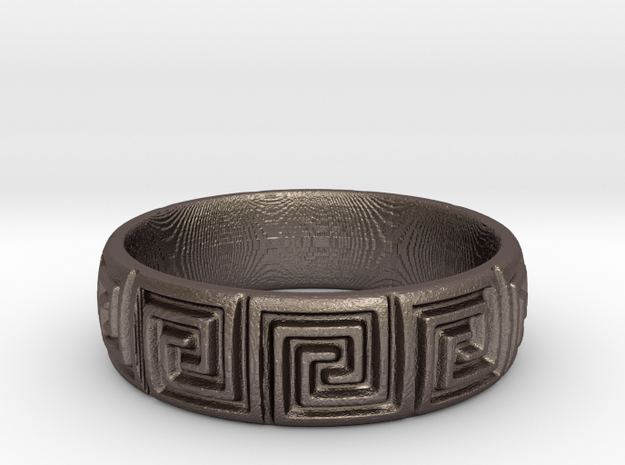 Maze Pattern Ring in Stainless Steel