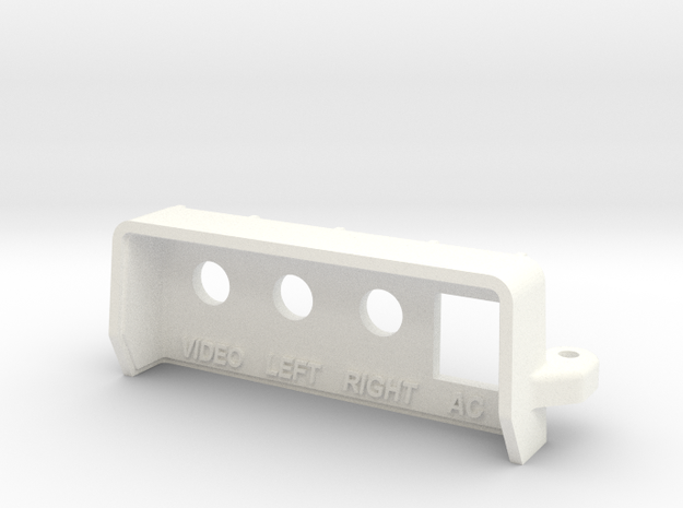 NES Top Loader RCA Rear Panel in White Processed Versatile Plastic