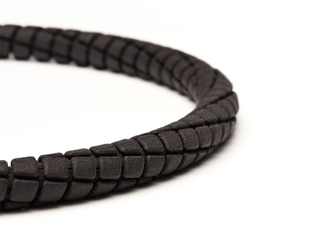 Spiral Tap Unisex Necklace in Black Strong & Flexible